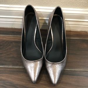 GUC Old Navy Silver Heels Size 10